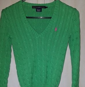 Womens Ralph Lauren Green Sweater